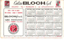 CALZA BLOCH 1964  CON CAMPIONATO DI CALCIO SERIE A CALENDARIO - Calendars