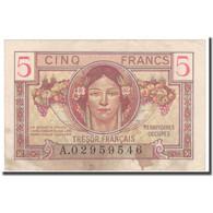 France, 5 Francs, 1947 French Treasury, 1947, TTB, Fayette:29.1, KM:M6a - Tesoro