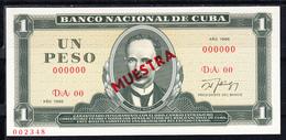CUBA  1986   1 PESO.JOSÉ MARTÍ.  NUEVO.PICK Nº 102 S  MUESTRA   .B1215 - Cuba