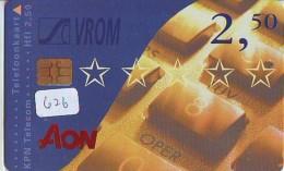 NEDERLAND CHIP TELEFOONKAART CRD 626 * AON * Telecarte A PUCE PAYS-BAS ONGEBRUIKT MINT - Privé