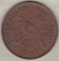 NEW ZEALAND . ONE PENNY  1951. GEORGE VI - New Zealand