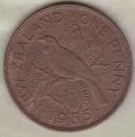 NEW ZEALAND . ONE PENNY  1955. ELIZABETH II - Nouvelle-Zélande