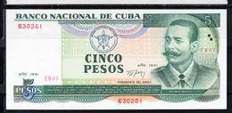 CUBA  1991  5 PESOS. ANTONIO MACEO  NUEVO.PICK Nº 108  .B1216 - Cuba