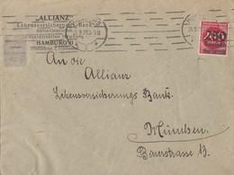 DR Brief EF Minr.292 Hamburg 26.9.23 Geprüft - Deutschland