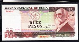CUBA  1991  10 PESOS. MÁXIMO GÓMEZ. EBC .PICK Nº 109  .B1217 - Cuba