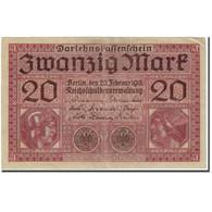 Billet, Allemagne, 20 Mark, 1918-02-20, KM:57, TB+ - [ 2] 1871-1918 : Empire Allemand