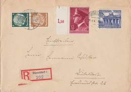 DR Orts-R-Brief Mif Minr.803,813 SR,Zdr S153 Düsseldorf 21.4.42 - Deutschland