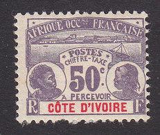 Ivory Coast, Scott #J6, Mint Hinged, Natives, Issued 1906 - Ivory Coast (1892-1944)