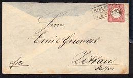 GERMANY EMPIRE 1874. LETTER BRUSTSCHILDE 1 GR MiNr19 BIELEFELD TO ZITTAU WITH SIEGELMARKE - Brieven En Documenten