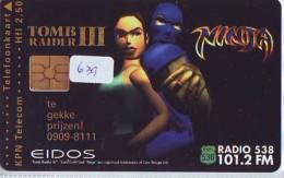 NEDERLAND CHIP TELEFOONKAART CRD 639 * Lara Croft * Tomb Raider 3  * Telecarte A PUCE PAYS-BAS ONGEBRUIKT MINT - Nederland