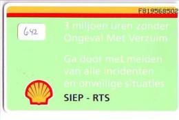 RRR * NEDERLAND CHIP TELEFOONKAART CRD 642 * SHELL  * Telecarte A PUCE PAYS-BAS ONGEBRUIKT MINT - Nederland