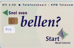NEDERLAND CHIP TELEFOONKAART CRD 643 * START  * Telecarte A PUCE PAYS-BAS ONGEBRUIKT MINT - Nederland