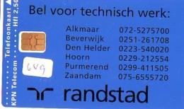 NEDERLAND CHIP TELEFOONKAART CRD 649 * RANDSTAD * Telecarte A PUCE PAYS-BAS ONGEBRUIKT MINT - Privé