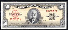 CUBA  1958   50 PESOS. CALIXTO GARCIA IÑIGUEZ . NUEVO SIN CIRCULAR  .B1219 - Cuba