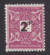 Ivory Coast, Scott #J17, Mint Hinged, Postage Due Surcharged, Issued 1927 - Côte-d'Ivoire (1892-1944)