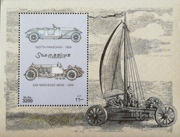 Somalia 1999 Cars S/S   Michel #762  POSTAGE FEE TO BE ADDED ON ALL ITEMS - Somalia (1960-...)