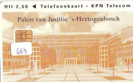 NEDERLAND CHIP TELEFOONKAART CRD 663 * PALEIS VAN JUSTITIE * Telecarte A PUCE PAYS-BAS ONGEBRUIKT MINT - Nederland