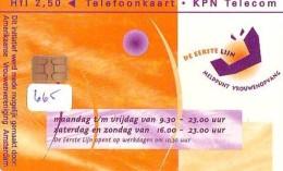 NEDERLAND CHIP TELEFOONKAART CRD 665 * MELDPUNT VROUWENOPVANG * Telecarte A PUCE PAYS-BAS ONGEBRUIKT MINT - Nederland
