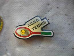 Pin's Du Club ACBD Tennis (Amicale Des Cheminots De Blainville Damelevières) Dépt 54 - Tennis