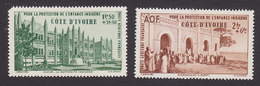Ivory Coast, Scott #CB1-CB2, Mint Never Hinged, Native Children's Welfare Fund, Issued 1942 - Ivory Coast (1892-1944)