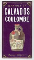 CARTON GAUFRE ANCIEN PUBLICITE CALVADOS COULOMBE NORMANDIE EN SUPERBE ETAT - Other Collections