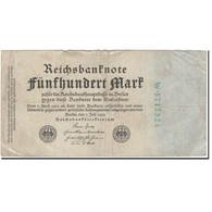 Billet, Allemagne, 500 Mark, 1922-07-07, KM:74b, TB - [ 3] 1918-1933 : Repubblica  Di Weimar