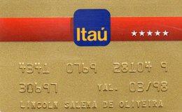BRASIL - CREDIT CARD ITAU BANK - Geldkarten (Ablauf Min. 10 Jahre)