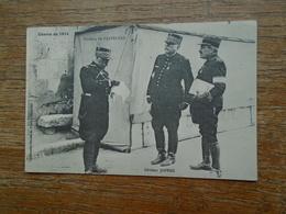 """Guerre De 1914 , Général Joffre Et Général De Castelnau """""""" Carte Avec Franchise Militaire """""""" - Guerre 1914-18"""