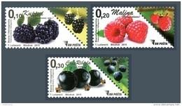 Bosnia And Herzegovina 2015 Mih. 669/71 Definitive Isuues. Berries MNH ** - Bosnie-Herzegovine