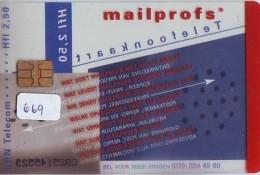 NEDERLAND CHIP TELEFOONKAART CRD 669 * Mailprofs (doorzichtig) * Telecarte A PUCE PAYS-BAS ONGEBRUIKT MINT - Privé