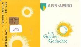 NEDERLAND CHIP TELEFOONKAART CRD 672 * ABN AMRO BANK * Telecarte A PUCE PAYS-BAS ONGEBRUIKT MINT - Nederland