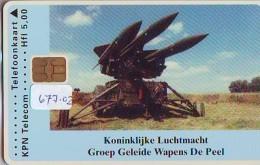 NEDERLAND CHIP TELEFOONKAART CRD 677.02 * KONINKLIJKE LUCHTMACHT * Telecarte A PUCE PAYS-BAS ONGEBRUIKT MINT - Leger