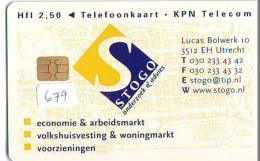 NEDERLAND CHIP TELEFOONKAART CRD 679 * STOGO * Telecarte A PUCE PAYS-BAS ONGEBRUIKT MINT - Nederland