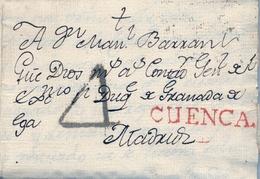 PREFILATELIA , 1789  , CARTA COMPLETA  , CUENCA - MADRID  , T. 2 - ...-1850 Voorfilatelie