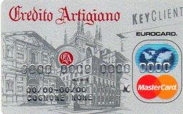 ITALIA CREDIT CARD CREDITO ARTIGIANO BANK MASTERCARD - Geldkarten (Ablauf Min. 10 Jahre)