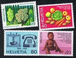 1976 Kompletter Jahrgang  Michel 1069 - 1086  1074 Mit Plattenfehler II   Postfrisch Xx - Schweiz