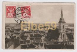 Slovaquie, Bratislava, Panorama, écrite 1920, Timbres - Slovacchia