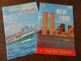 2 ANCIENS  LIVRETS  TOURISTIQUES / NEW YORK  1974 - Obj. 'Souvenir De'