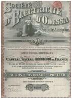 Action Ancienne - Société D 'Electricité D' Odessa -Titre De 1910 - N° 01391 - Russie