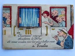 Carte à Système : 83 TOULON : Charmant Voyage Soulevez Le Store Si Vous Voulez Voir Les Plus Belles Vues De Toulon, 1931 - Toulon