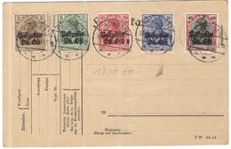 Deutsches Reich - 1916 - LATVIA RUSSIA GERMANY - TALSSEN Cancel - Postgebiet Oberbefehl Ost - WW L - Cancelled But Not S - Germania