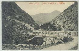 Kyrgyzstan. Osh County. The Mountains. Bridge. Horse - Kyrgyzstan