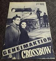 "SOPHIA LOREN In ""Geheimaktion Crossbow"" Mit George Peppard, Trevor Howard ... - Altes NFP-Filmprogramm - 182300 - Magazines"