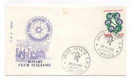 Italia - 1973 - Busta FDC Roma  - Rotary Club Italiano - Con Doppio Annullo Trento - (FDC11794) - Rotary, Lions Club