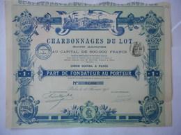 Charbonnages Du LOT 1911           FIGEAC - Mines