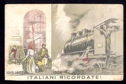 ANNI 20-30 ASSOCIAZIONE NAZIONALE FASCISTI FERROVIERI - COMITATO LOMBARDO - ILLUSTRATORE DUDOVICH (STP22) - Trains