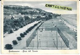 Marche-ascoli Piceno-grottammare Veduta Panoramica Litorale Grottammare Campo Da Tennis Spiaggia Citta Anni 50 - Altre Città
