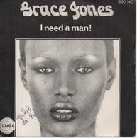 45T. Grace JONES.  I Need A Man!  -  Again And Again - Disco & Pop