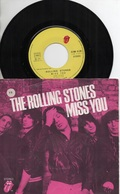 45T. THE ROLLING STONES. Miss You - Faraway Eyes - Rock