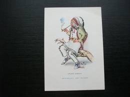 INDIANO CHE FUMA LA PIPA STATI UNITI  ILLUSTRATORE CHICKO - Indiani Dell'America Del Nord